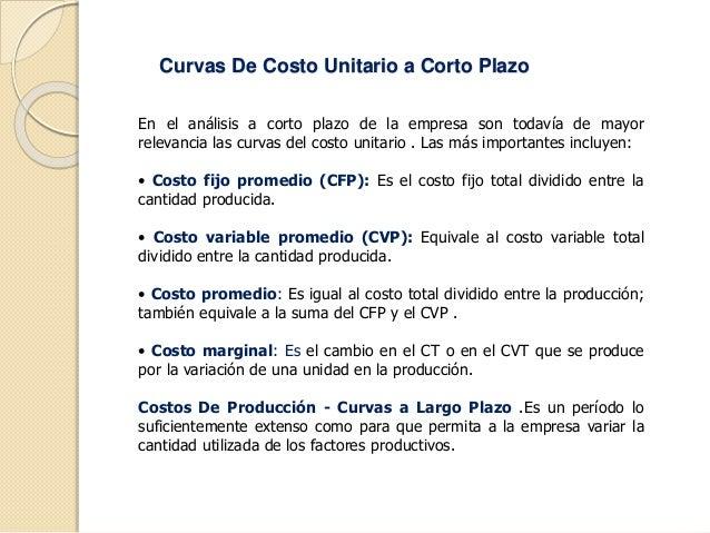 la teoria de costo de produccion