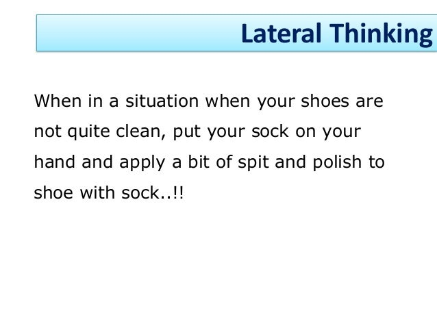 lateral thinking definition oxford dictionary