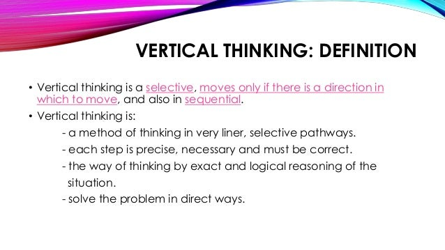 lateral vs vertical thinking