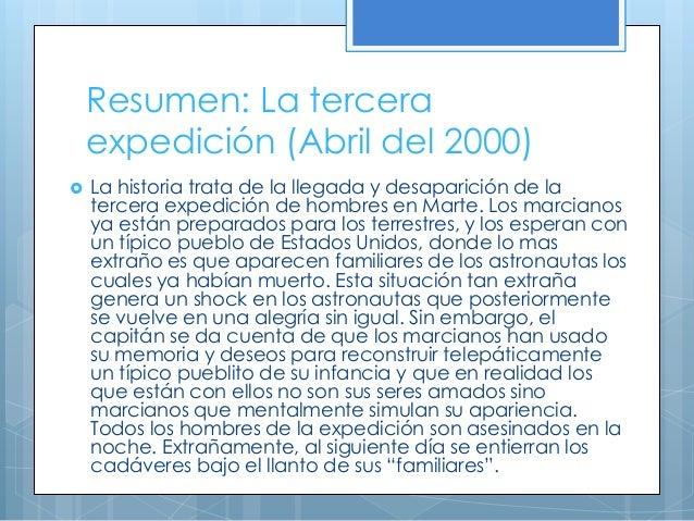 Cronicas Marcianas La Tercera Expedición