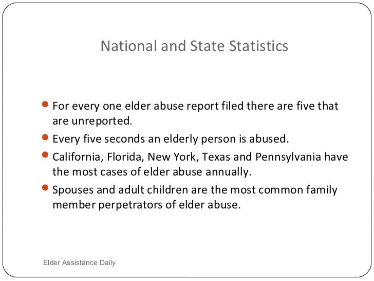 the neglect of the elderly people in the united states also known as elder abuse Elder mistreatment: abuse, neglect, and exploitation in an aging america   states also vary on whether abuse is limited to the abuse of the elder person's   and financial abuse by individuals relatively well known to the elder person  include.