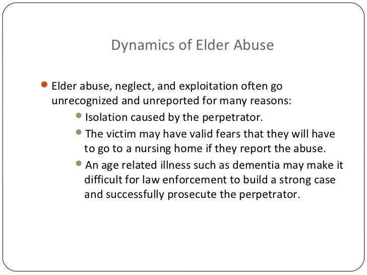 tackling elder abuse nurses role Nursing school curriculums devotes minimal time to the issue of elder abuse what this paper adds there is a general consensus that more education is needed in the recognition.