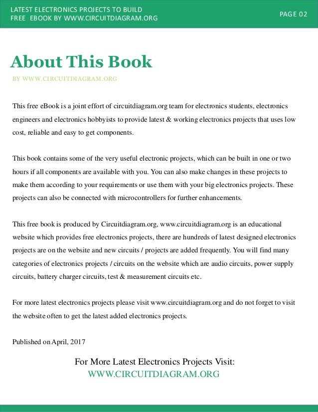 Latest Electronics Projects to Build PDF Ebook