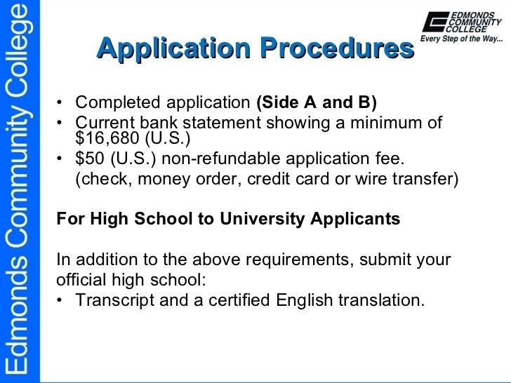 edmonds community college international student application
