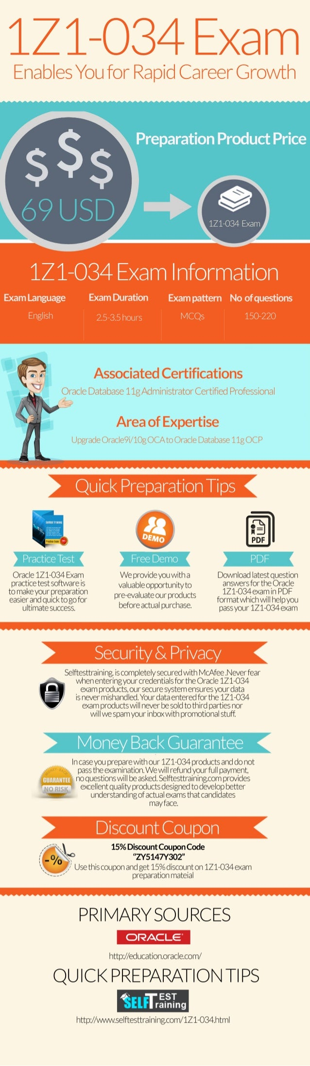 Latest 1z0-034 exam questions & practice test [infographic]