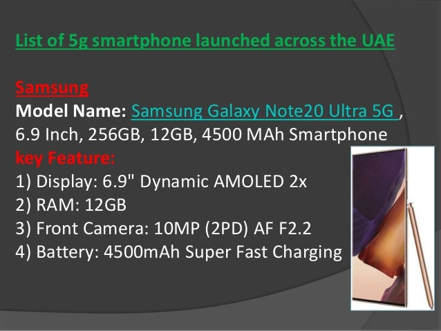 Latest 5 g smartphone Slide 3