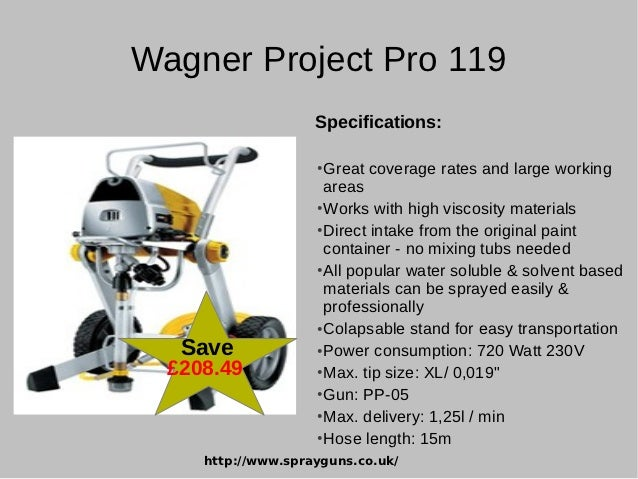 Sehr Latest Airless Paint Sprayers from Wagner Project Pro EE97