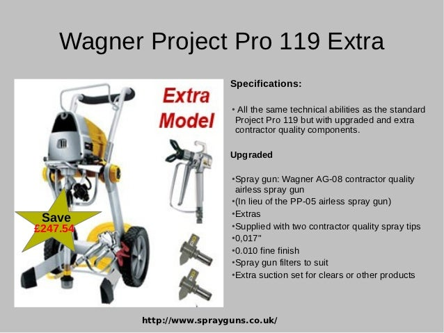 Häufig Latest Airless Paint Sprayers from Wagner Project Pro UH59
