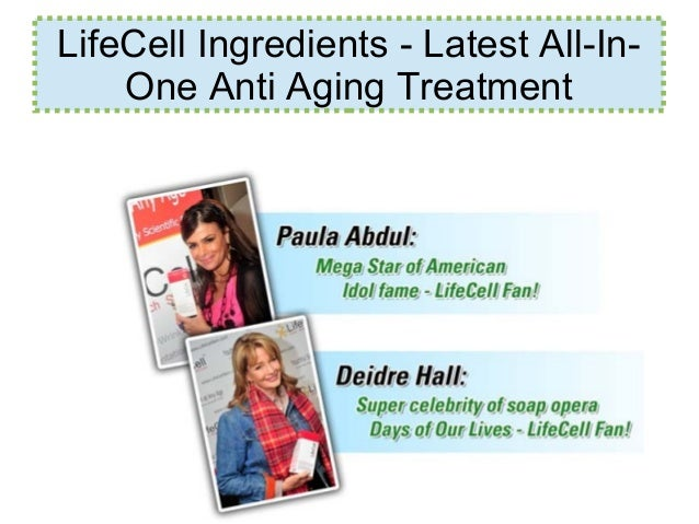 LifeCell Ingredients - Latest All-In- One Anti Aging Treatment