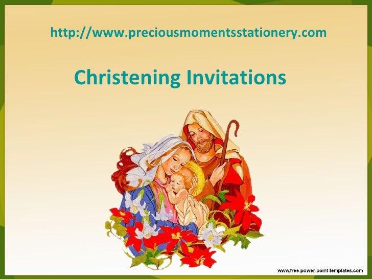 http://www.preciousmomentsstationery.com   Christening Invitations
