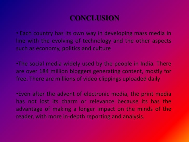 Essay on the Impact of Print Media in India (837 Words)