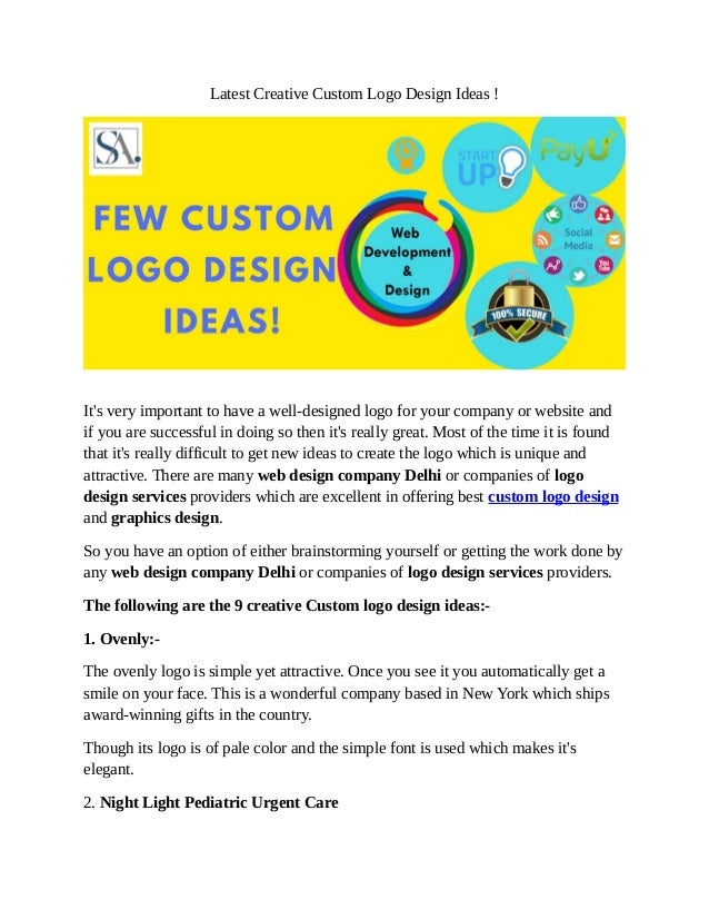 Latest Creative Custom Logo Design Ideas