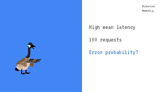 @aiborisov @mykyta_p @aiborisov @mykyta_p High mean latency 100 requests Error probability?