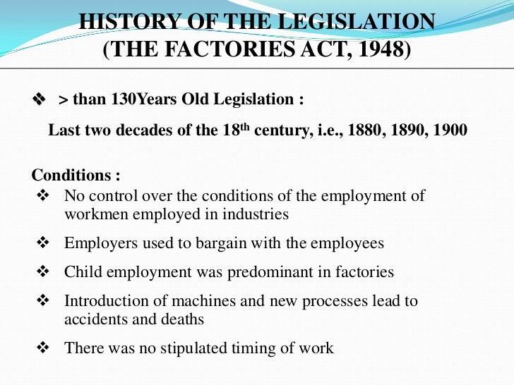 Factories Act,1948, India