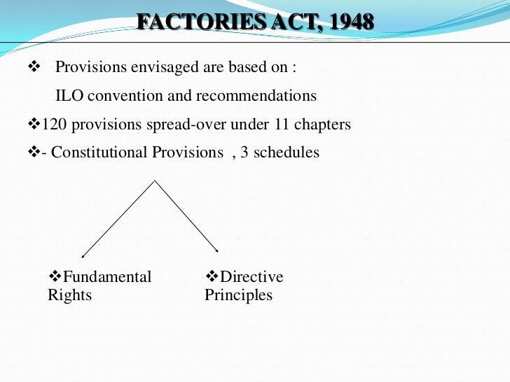 salient features of factories act 1948 slideshare