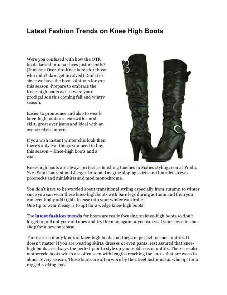 Latest Fashion Trends on Knee High BootsWere you confused with how the OTKboots kicked into our lives just recently?(It me...