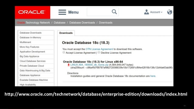 Oracle Database 18c Download For Linux