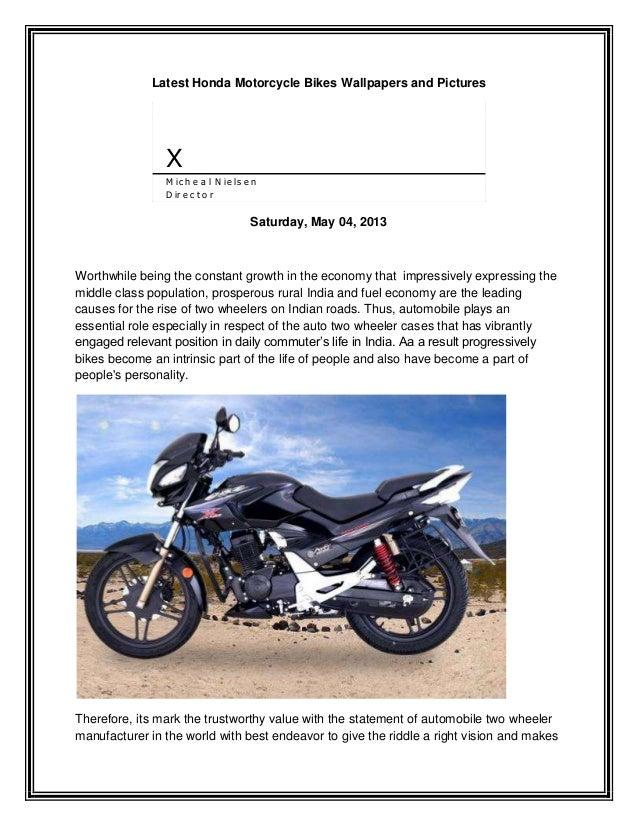 Latest Honda Motorcycle Bikes Wallpapers and PicturesXM ic h e a l N ie ls e nD ir e c t o rSaturday, May 04, 2013Worthwhi...