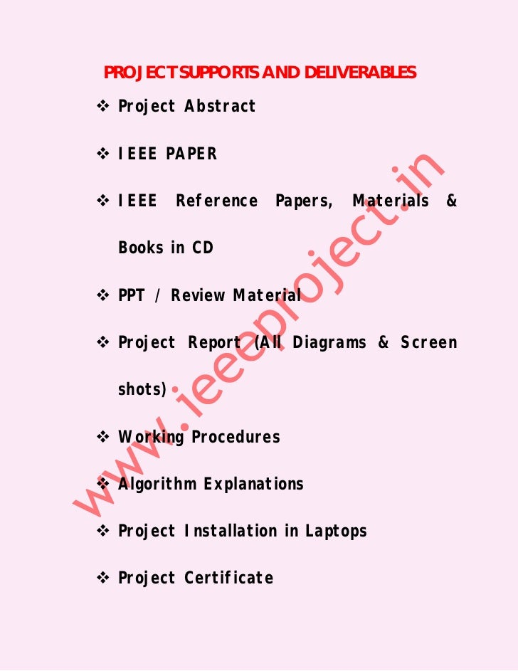 Latest IEEE Projects 2012 For IT@ Seabirds ( Trichy, Perambalur, Nama…