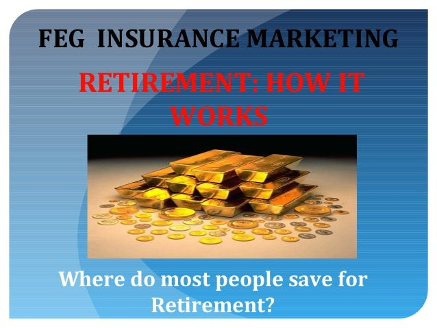 FEG INSURANCE MARKETING  RETIREMENT: HOW IT WORKS  Where do most people save for Retirement?