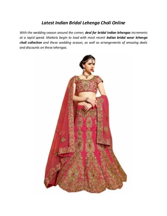 768cdd386326 Latest Indian Bridal Lehenga Choli Online With the wedding season around  the corner, ...