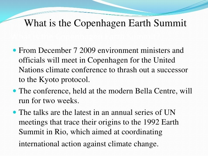 Latest issue on environment, international conferences held, agenda, points discussed and action plan ahead Slide 3