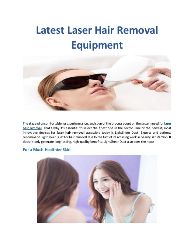 Latest Laser Hair Removal Equipment