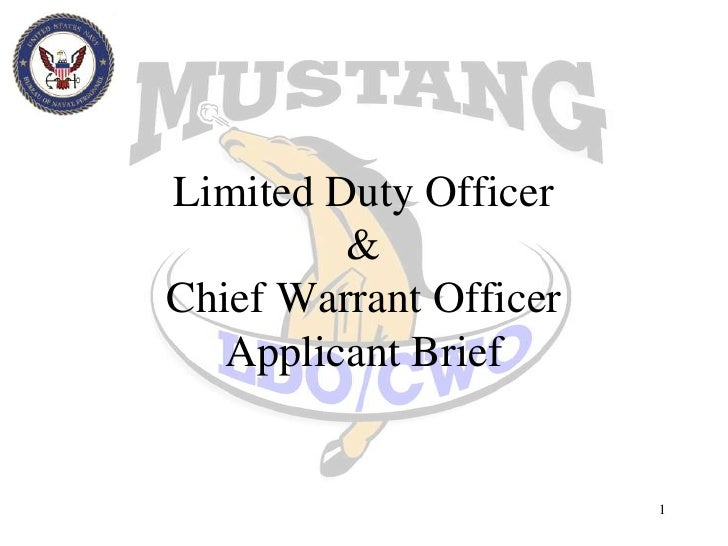 1<br />Limited Duty Officer&Chief Warrant OfficerApplicant Brief<br />