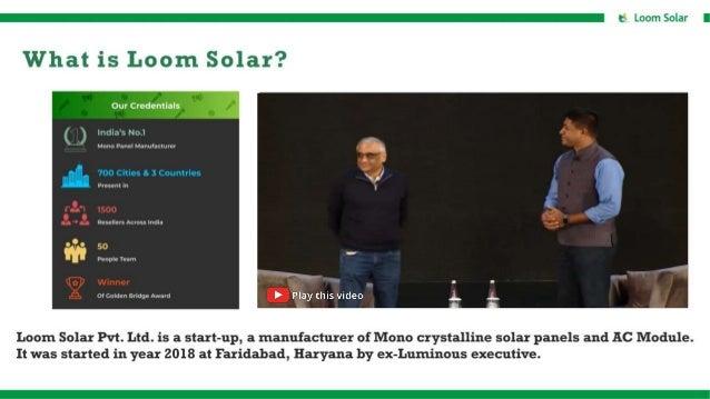 Loom Solar AC Module Presentation for Marketers