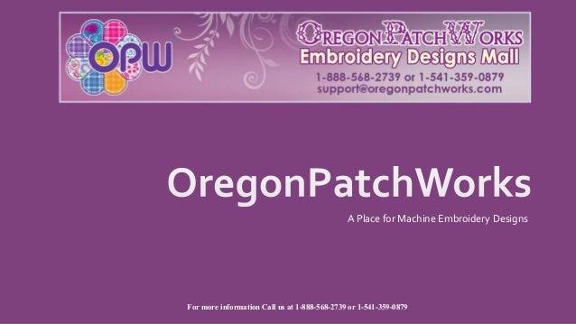 Oregonpatchworks Machine Embroidery Designs