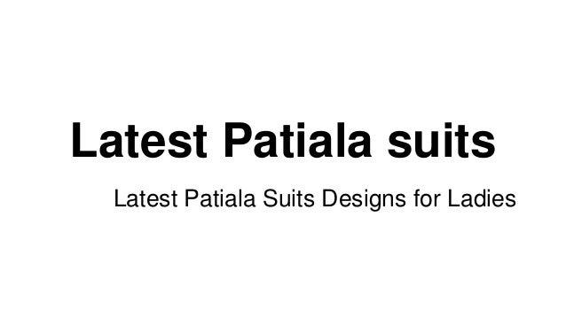 Latest Patiala suits Latest Patiala Suits Designs for Ladies
