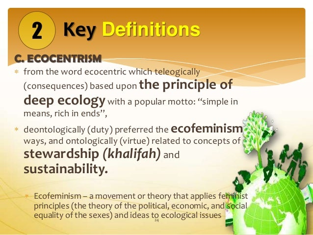 Intelligibility of science with ecocentrism and khalifah