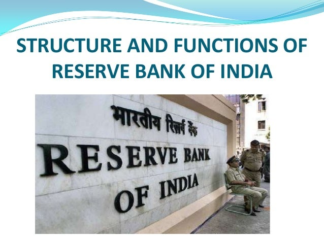 7 Major Functions of the Reserve Bank of India