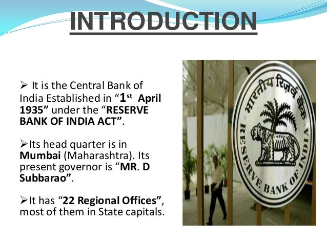 Central bank of india and its