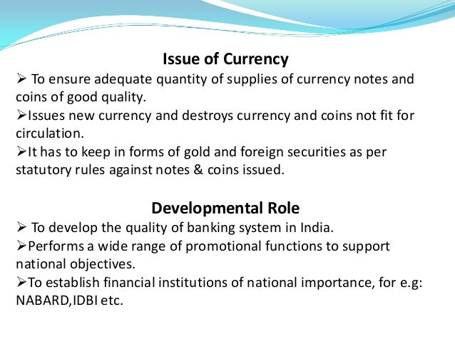 Role of rbi in forex market pdf