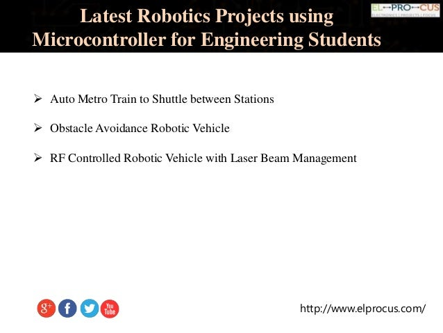 Latest Robotics Projects Using Microcontroller For Engineering Students on line following robotic vehicle using microcontroller