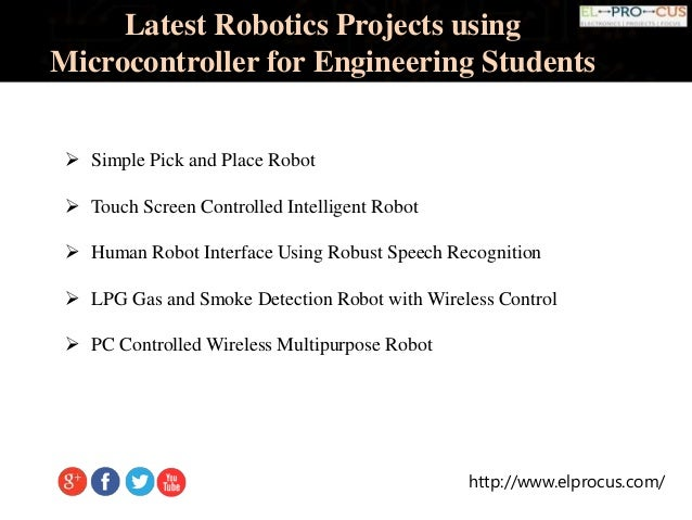 latest robotics projects  microcontroller  engineering studen