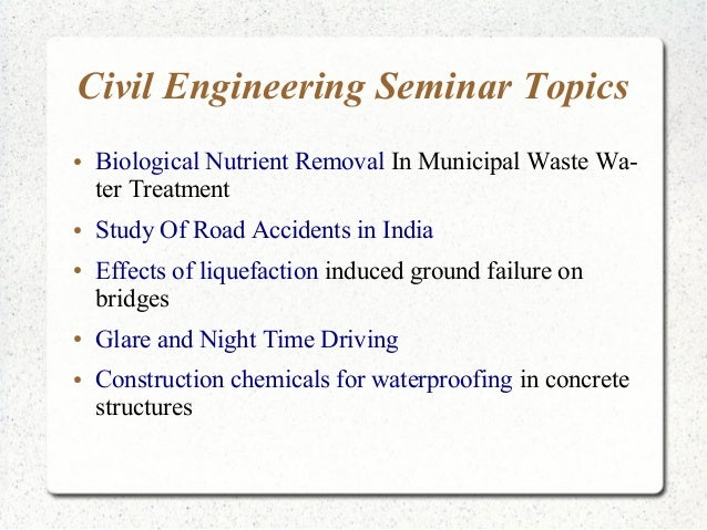 civil engineering term paper Engineering and science1 by scott a socolofsky assistant professor, dept civil engrg, ocean engrg div, texas a&m univ, ms 3136, college station, tx 77843-3136 of the main paper and is less of an outline than the closing paragraph of the introduction.
