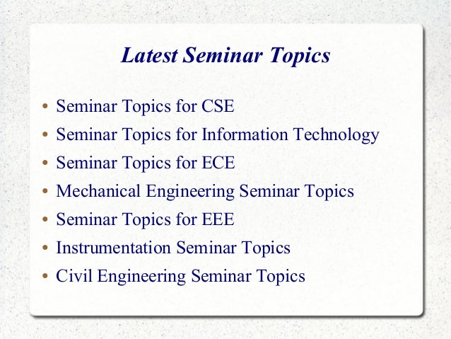 seminar topics E e 299 introductory topics in electrical engineering (1-5, max 10) nw   weekly seminars on current topics in electrical engineering credit/no-credit only.