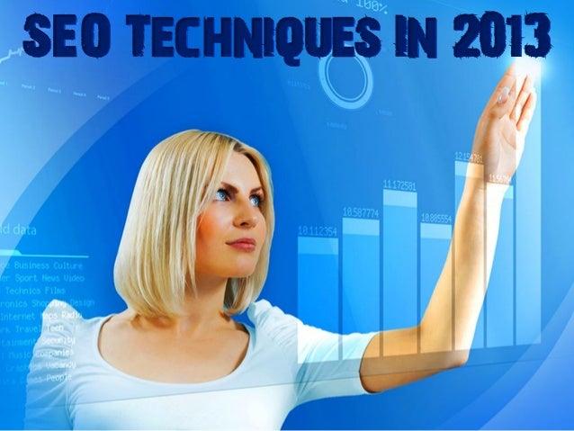 SEO Techniques In 2013