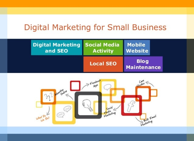 Digital Marketing for Small Business  Digital Marketing Social Media   Mobile       and SEO        Activity     Website   ...