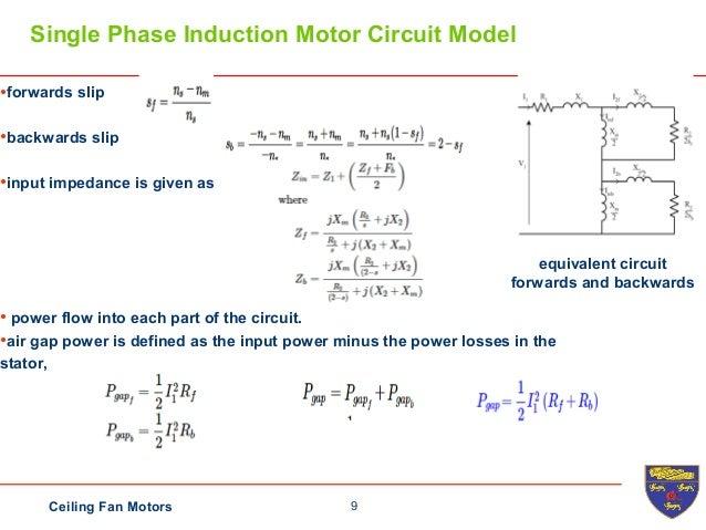 Ceiling fan 9 9ceiling fan motors single phase induction motor circuit swarovskicordoba Choice Image