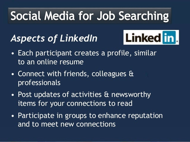 Social Networking for Job Seekers