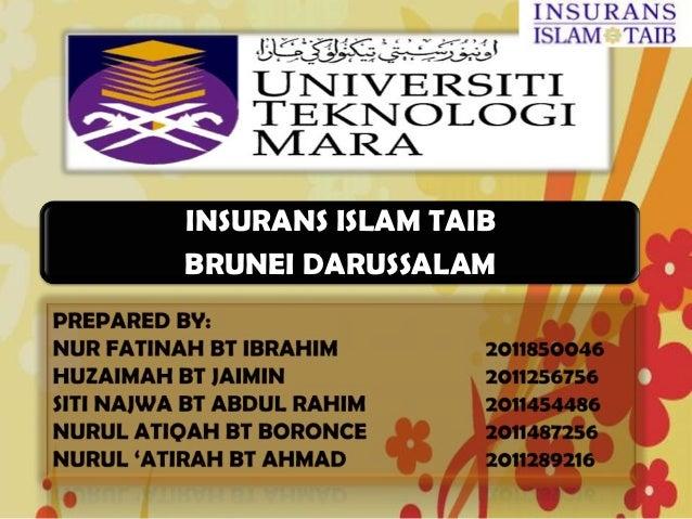 INSURANS ISLAM TAIBBRUNEI DARUSSALAM