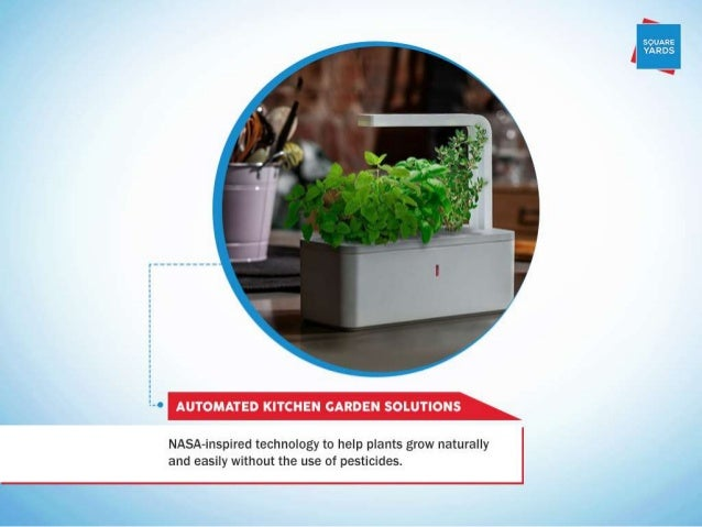 """soumze ' YARDS  T  h """"' AUTOMATED KITCHEN GARDEN SOLUTIONS  NASA-inspired technology to help plants grow naturally and eas..."""