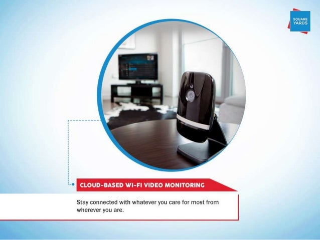 """F -  sounns J YARDS  (  A"""" CLOUD-BASED WI-Fl VIDEO MONITORING  Stay connected with whatever you care for most from whereve..."""