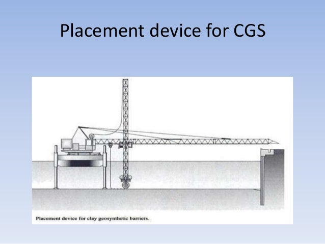 Placement device for CGS