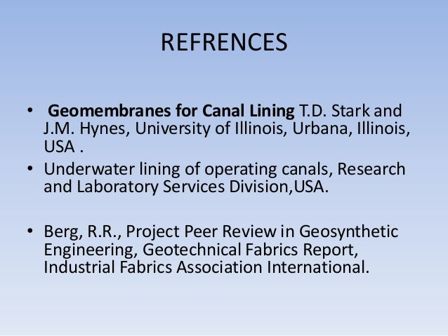 Latest technology used for underwater lining of canal