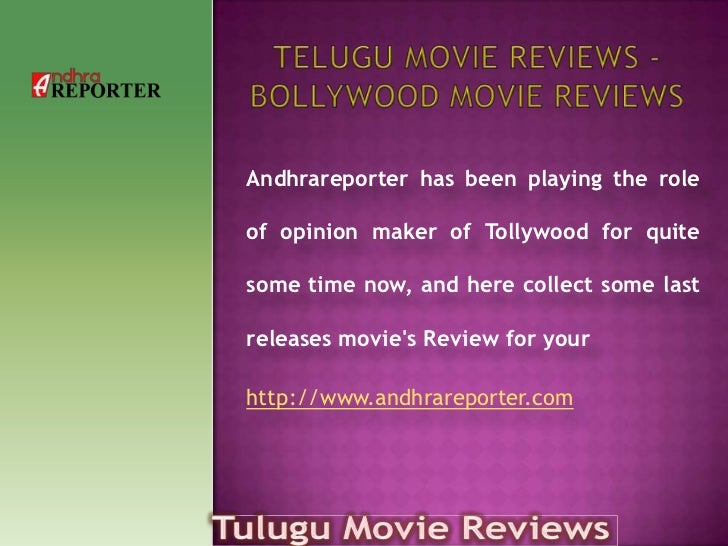 Andhrareporter has been playing the roleof opinion maker of Tollywood for quitesome time now, and here collect some lastre...