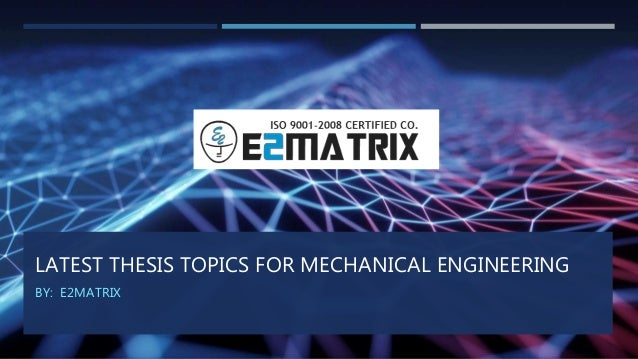 Master thesis mechanical engineering